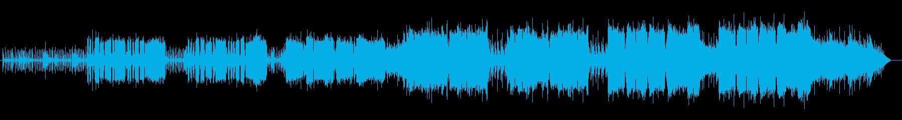 軽快なリラクゼーションミュージックの再生済みの波形