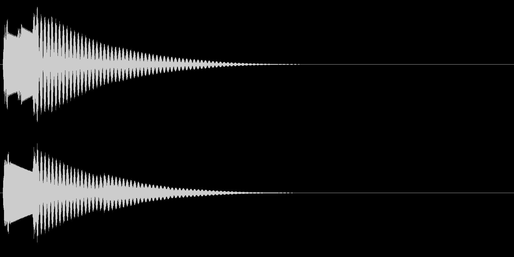 ピンポン(クイズのボタン音・解答)の未再生の波形