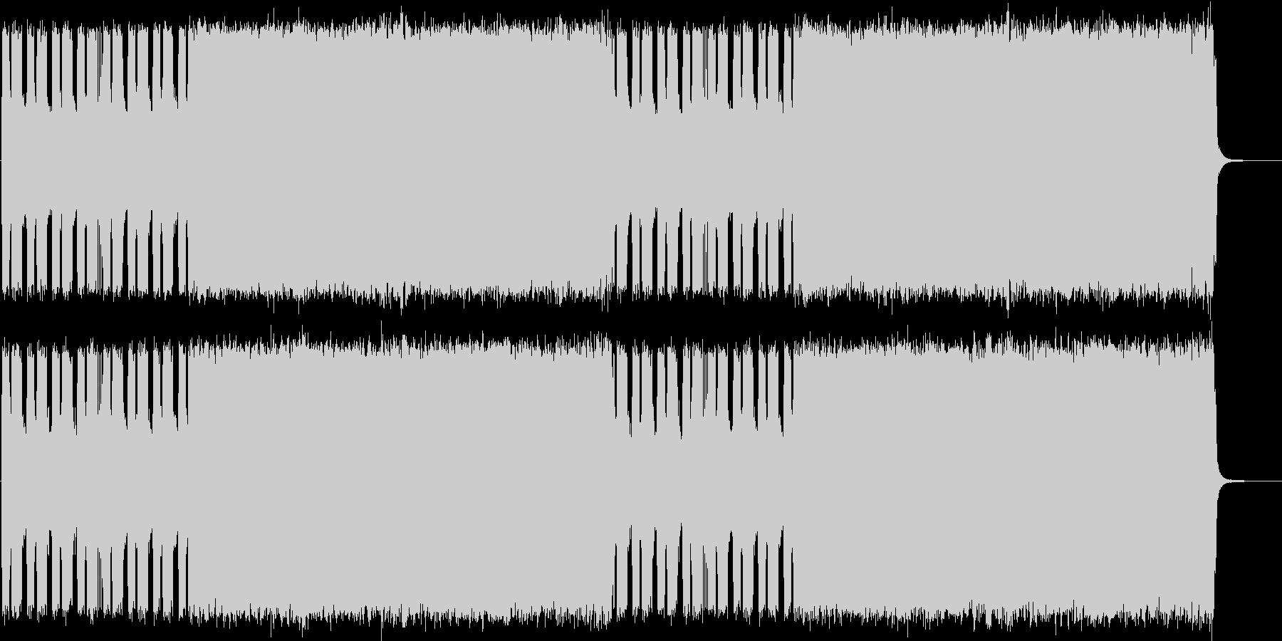 ヘヴィメタル風ギターインストBGMの未再生の波形