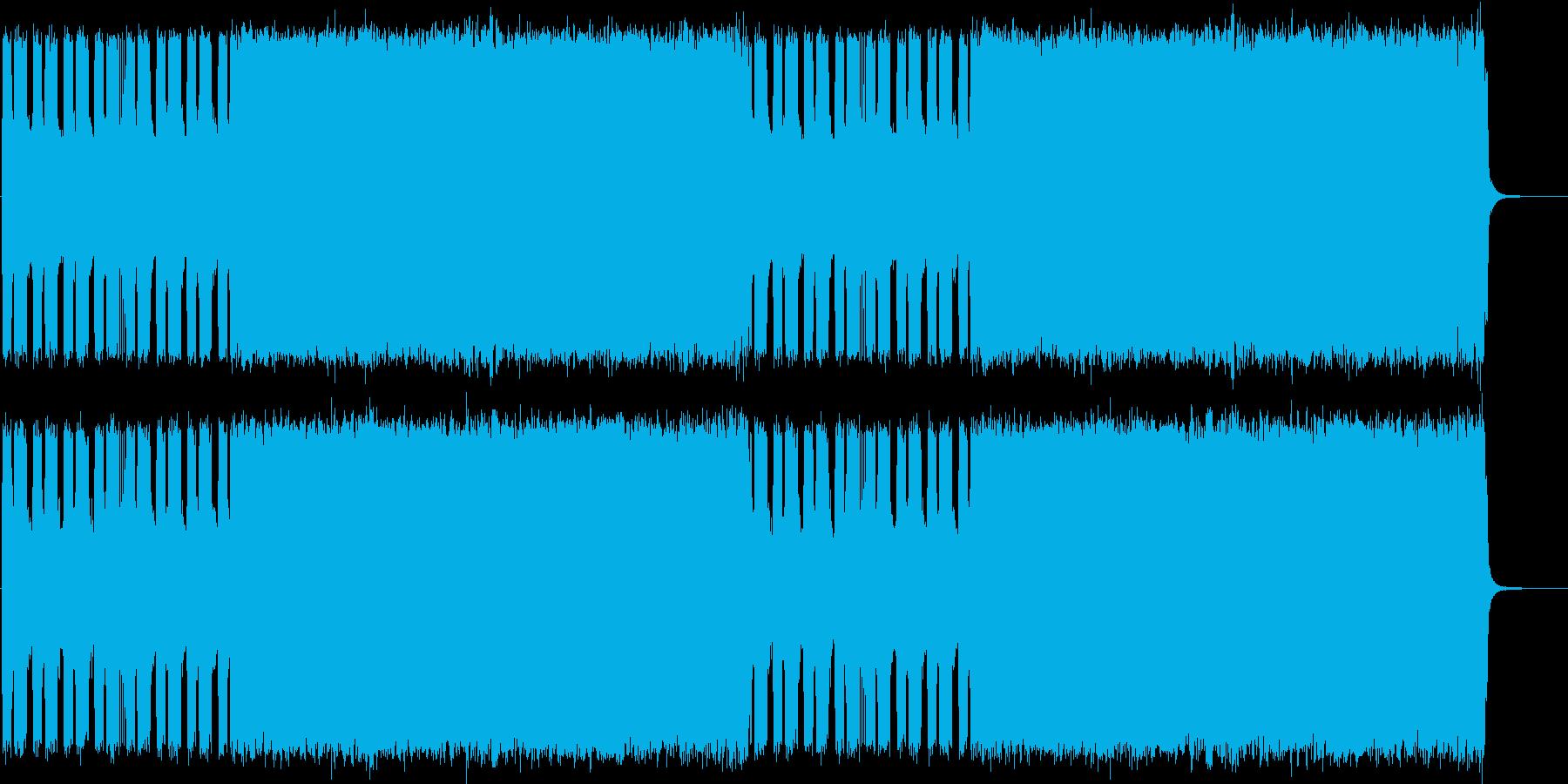 ヘヴィメタル風ギターインストBGMの再生済みの波形
