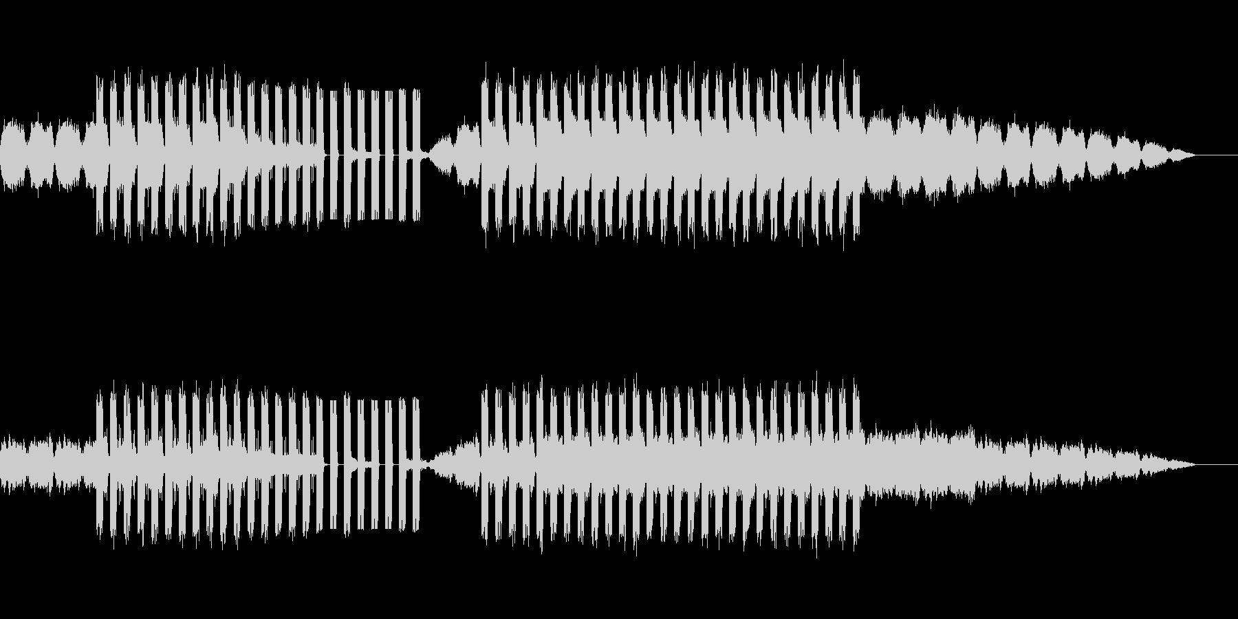 ゆったりでやや不穏な印象の電子音楽の未再生の波形