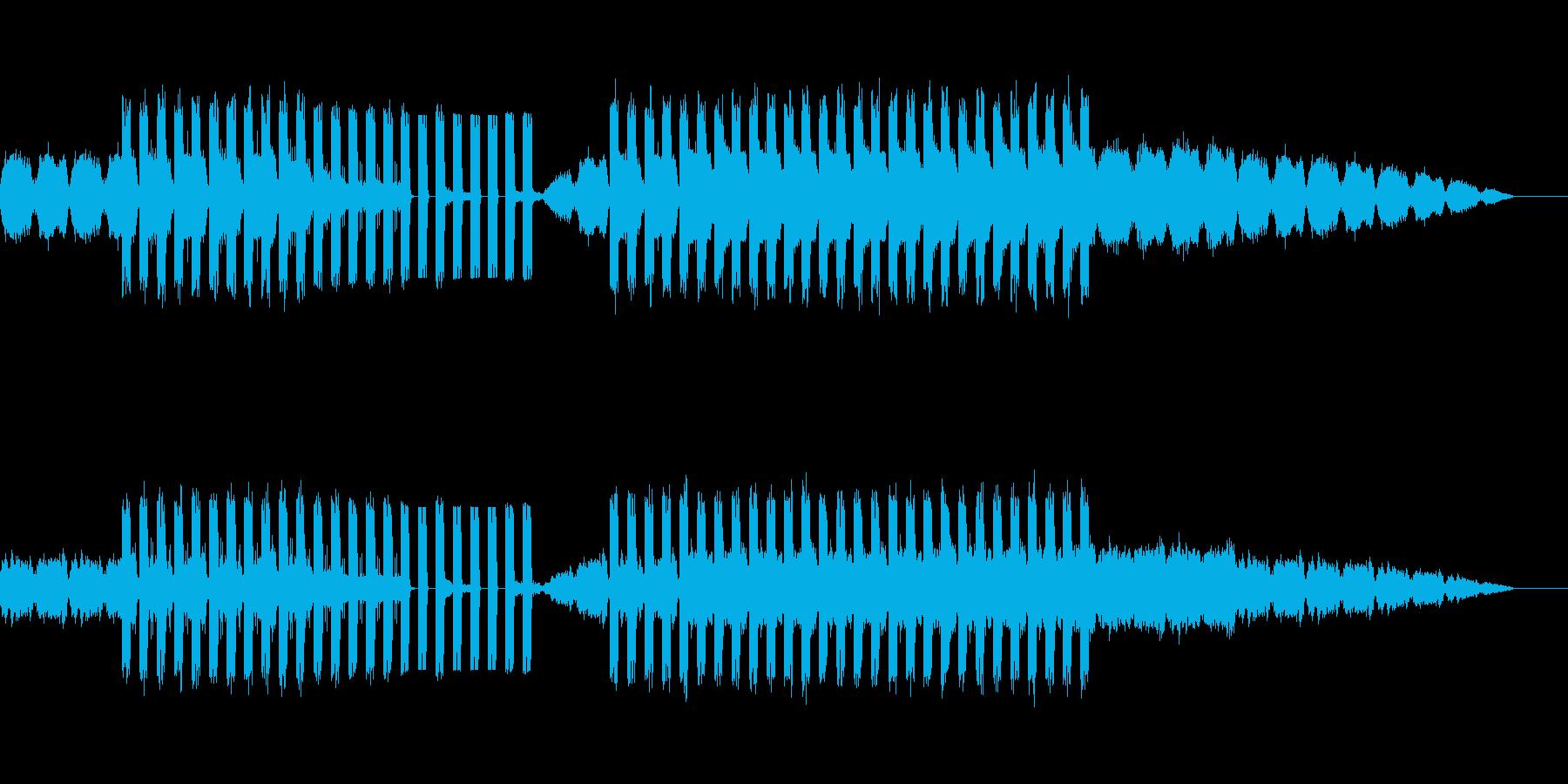 ゆったりでやや不穏な印象の電子音楽の再生済みの波形
