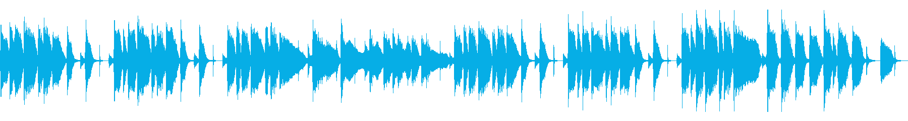 コミカルで間抜けなBGM(ループの再生済みの波形