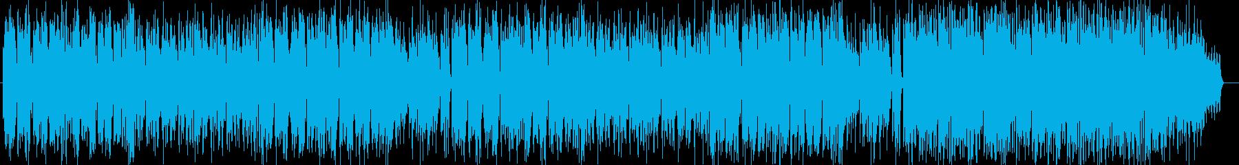 ボサノヴァ風シンセサイザー曲の再生済みの波形