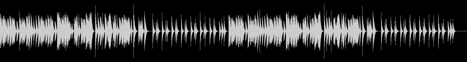 ほのぼのキュートな木琴の未再生の波形