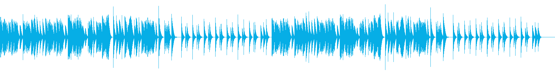 ほのぼのキュートな木琴の再生済みの波形