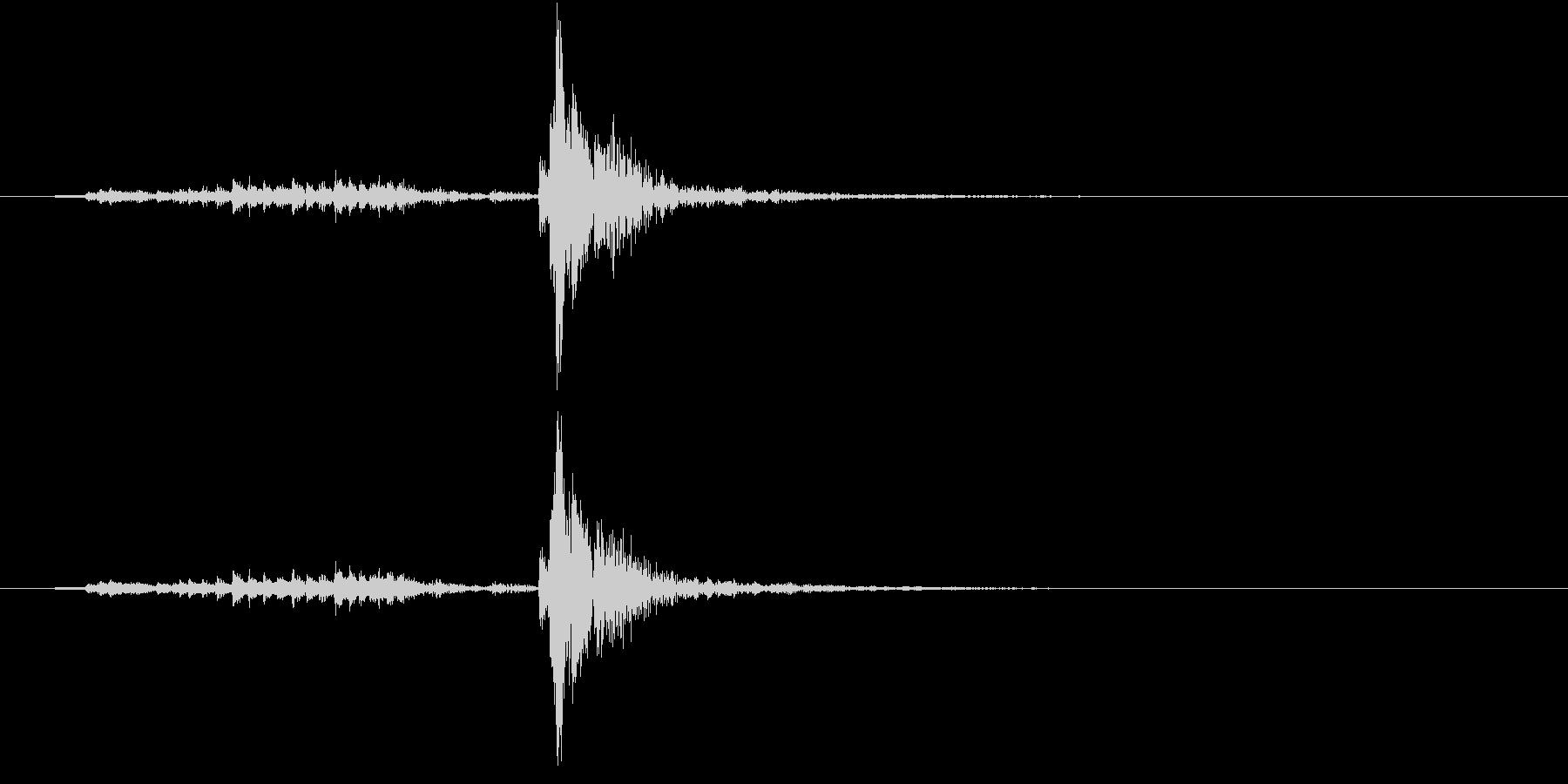【生録音】シュガーポットの蓋を閉める音の未再生の波形