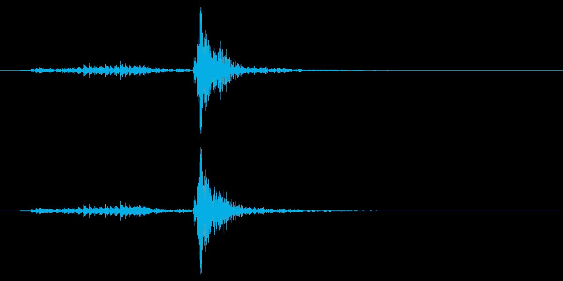 【生録音】シュガーポットの蓋を閉める音の再生済みの波形