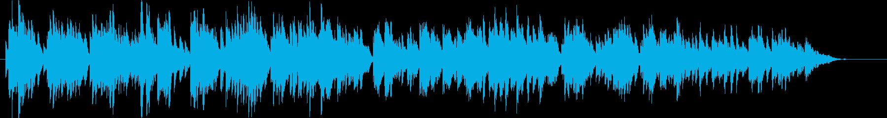 4拍子の優しい鉄琴の子守唄の再生済みの波形