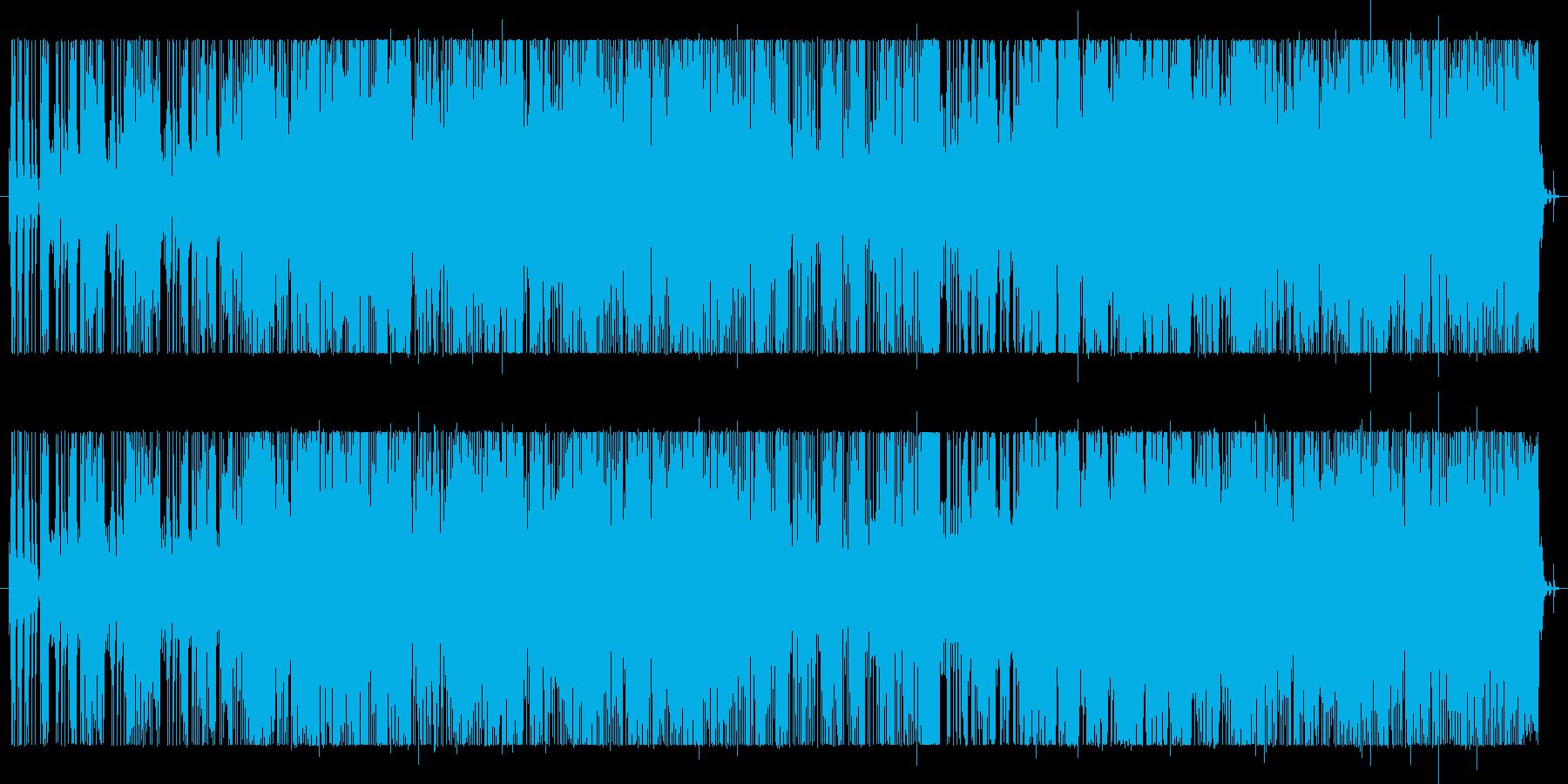 ファンクサウンドのショートテーマ曲。の再生済みの波形