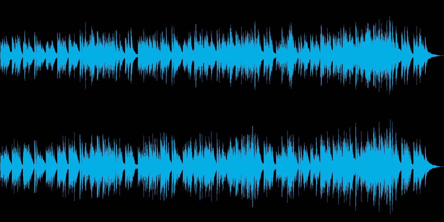 静かなピアノソロ ヒーリングかつ感動の再生済みの波形