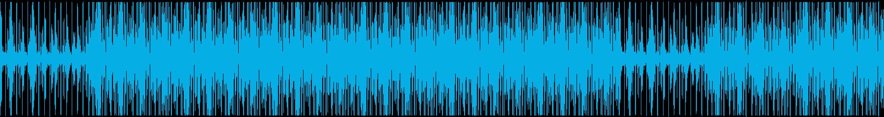 ダークで怪しげなヒップホップトラックの再生済みの波形