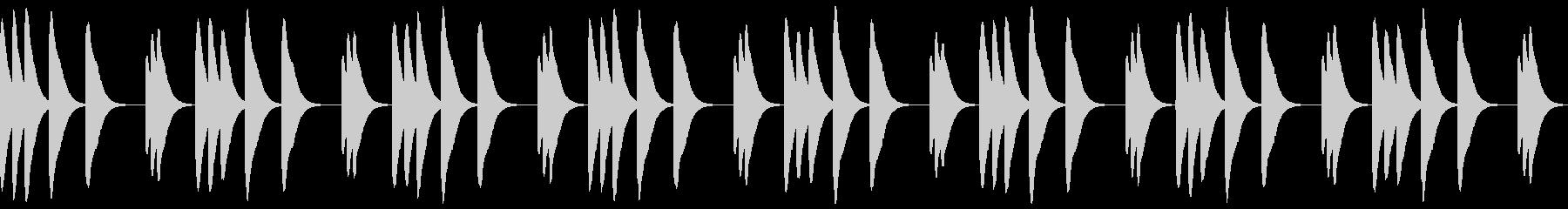 マリンバの着信音の未再生の波形