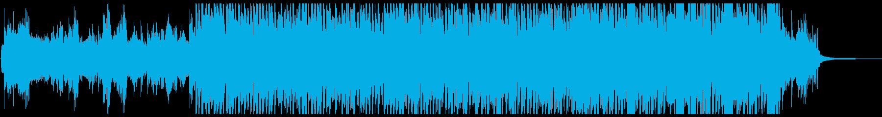 スローなピアノインスト曲の再生済みの波形