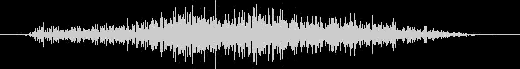 人間の怪物:遅い低うなり声の未再生の波形