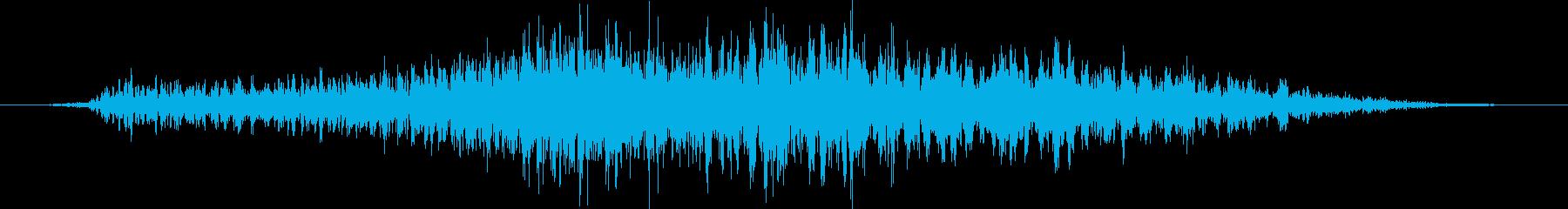 人間の怪物:遅い低うなり声の再生済みの波形