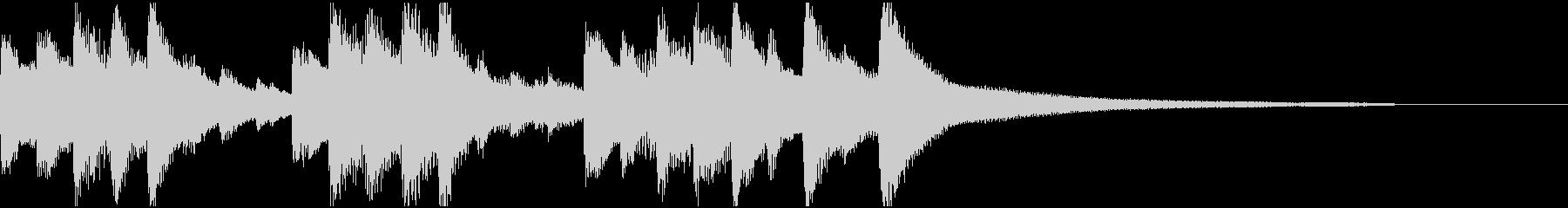 冬向けきれいなピアノジングルの未再生の波形