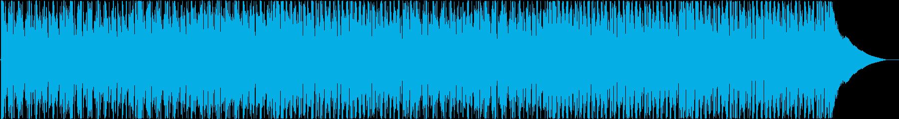 ポジティブでエネルギッシュなバックグラウの再生済みの波形