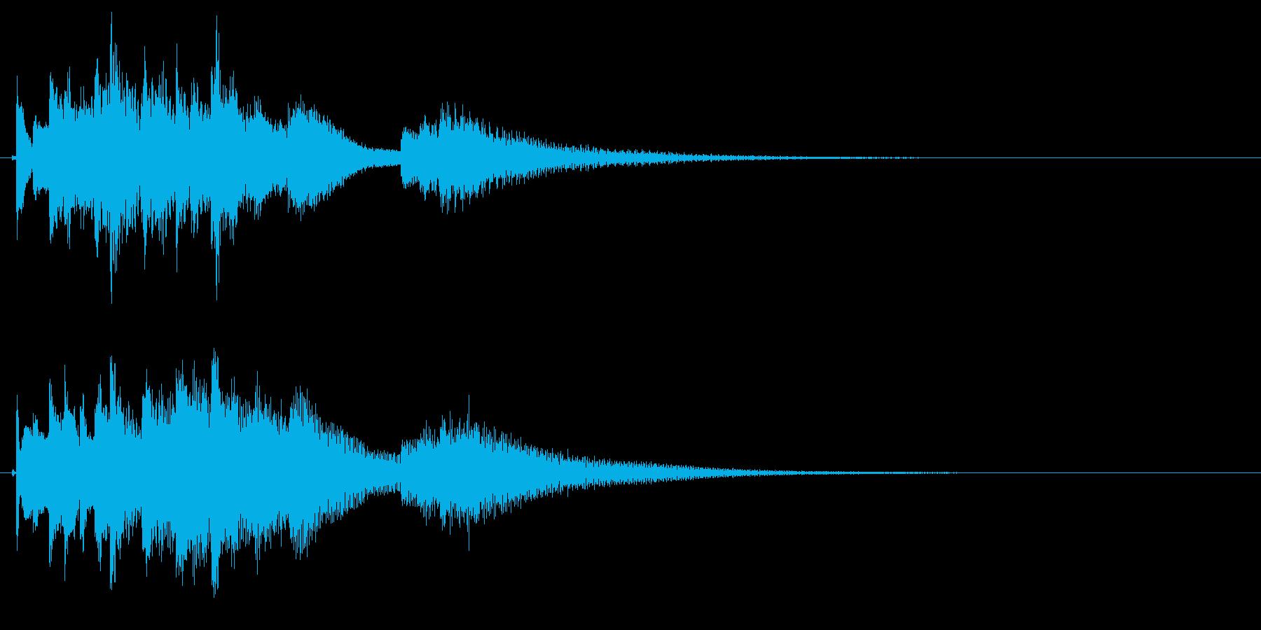 琴のフレーズ4☆調律2☆リバーブ有の再生済みの波形