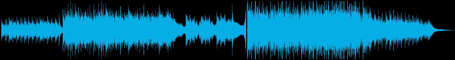 映像向け・ピアノ&弦の感動的な曲の再生済みの波形
