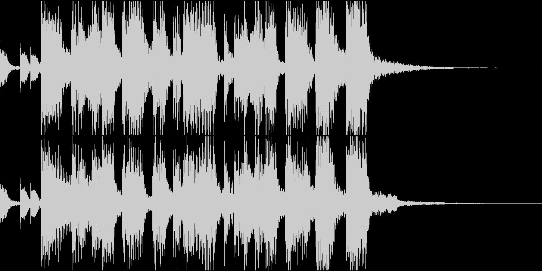 80年代風・シンセブラスファンファーレの未再生の波形