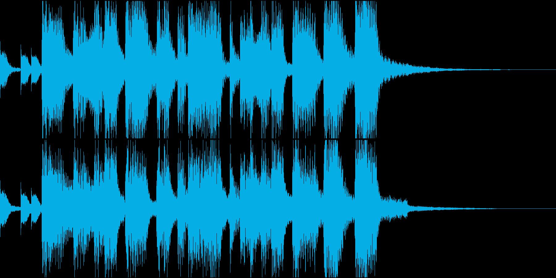 80年代風・シンセブラスファンファーレの再生済みの波形