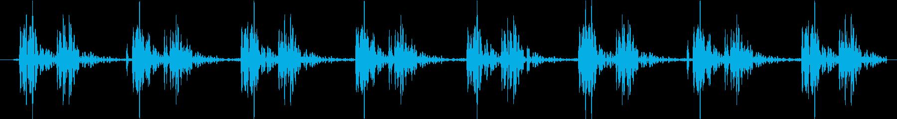 心臓 鼓動の再生済みの波形