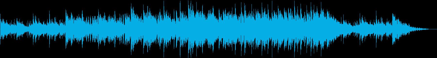 生ティンホイッスルとバイオリンのケルト曲の再生済みの波形