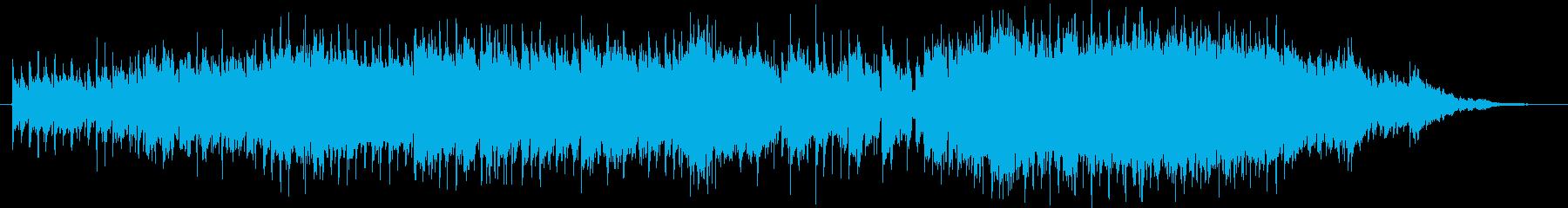 懐かしいレトロなシンセサイザーの曲の再生済みの波形
