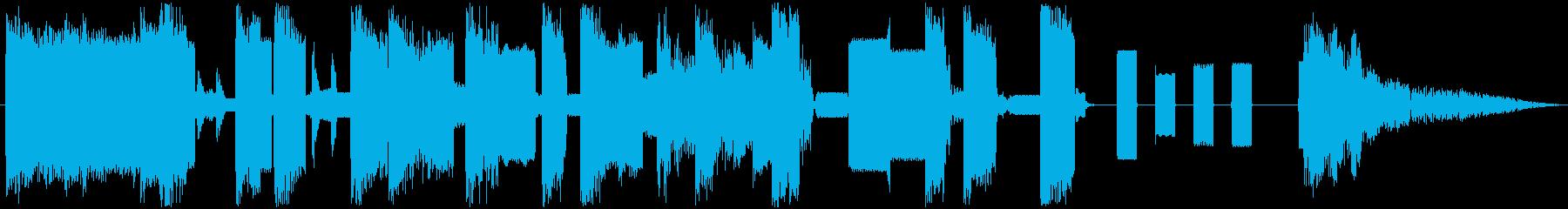 ピコピコ音のかわいい動画向きジングルの再生済みの波形