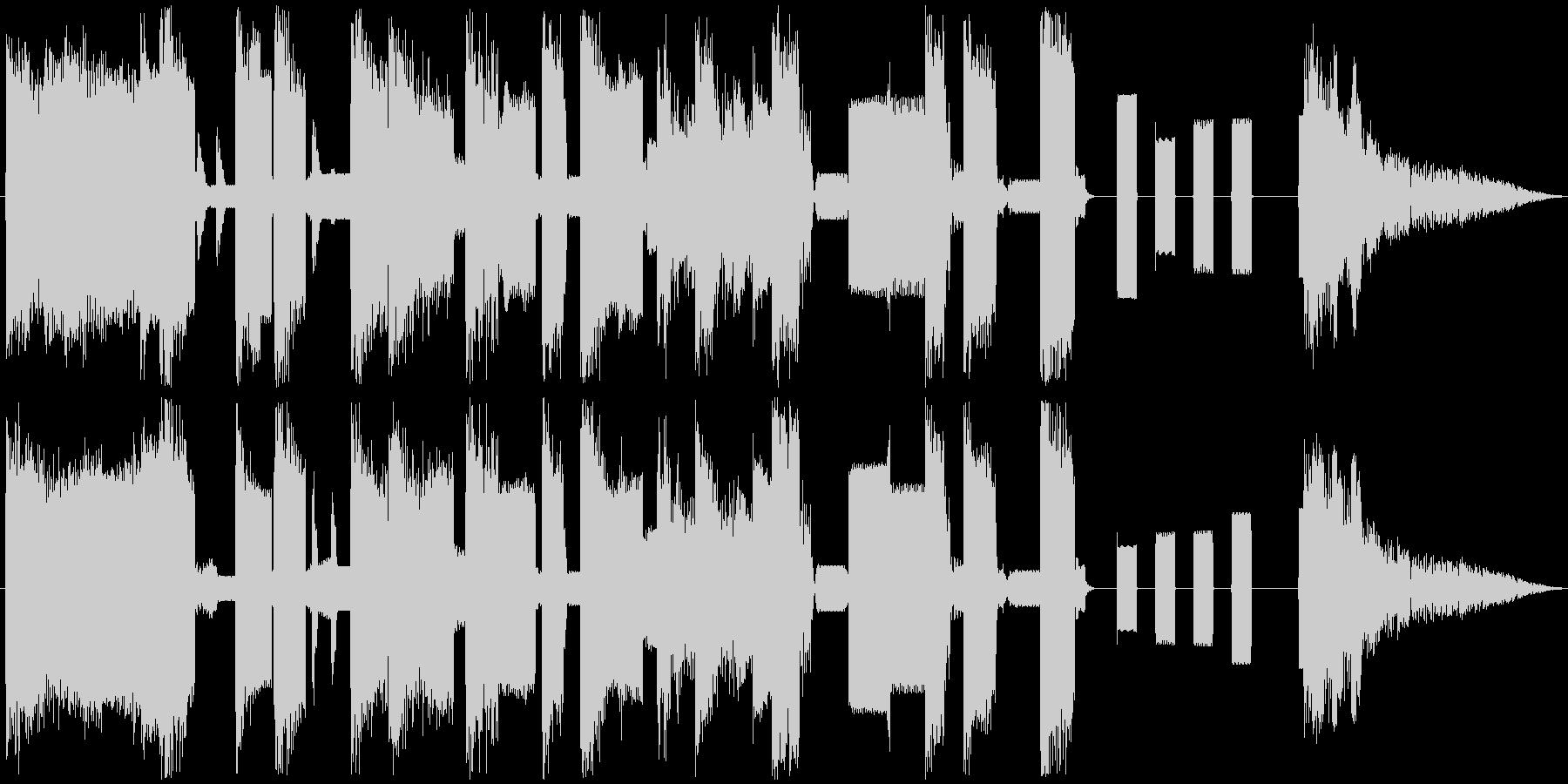 ピコピコ音のかわいい動画向きジングルの未再生の波形