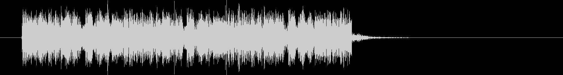 刺激的なハードロックの未再生の波形