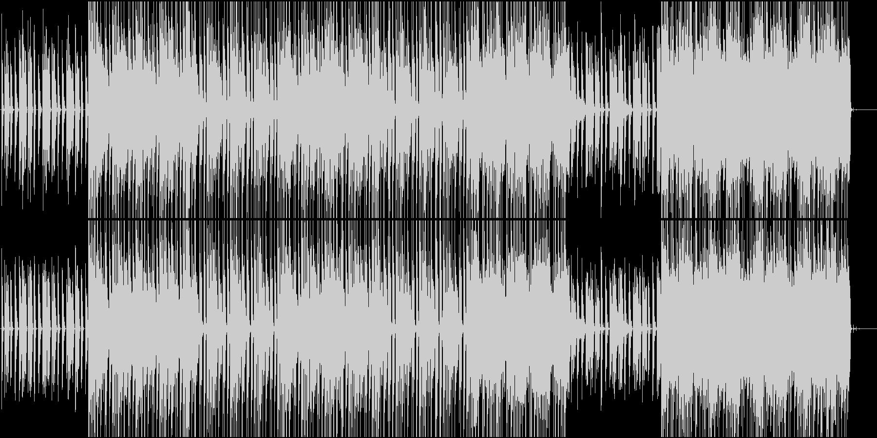 ワントーンテクノの未再生の波形