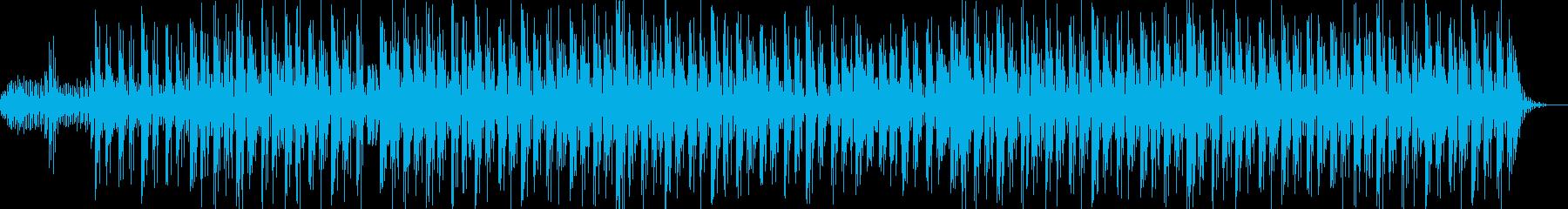 ホラーやミステリー向けのダビーなBGMの再生済みの波形