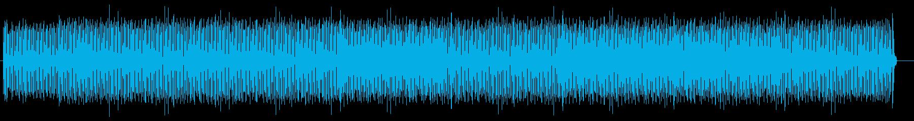 明るくおしゃれなシンセサイザーのポップスの再生済みの波形