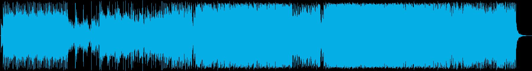 かっこいいサイバー感あるロック曲の再生済みの波形