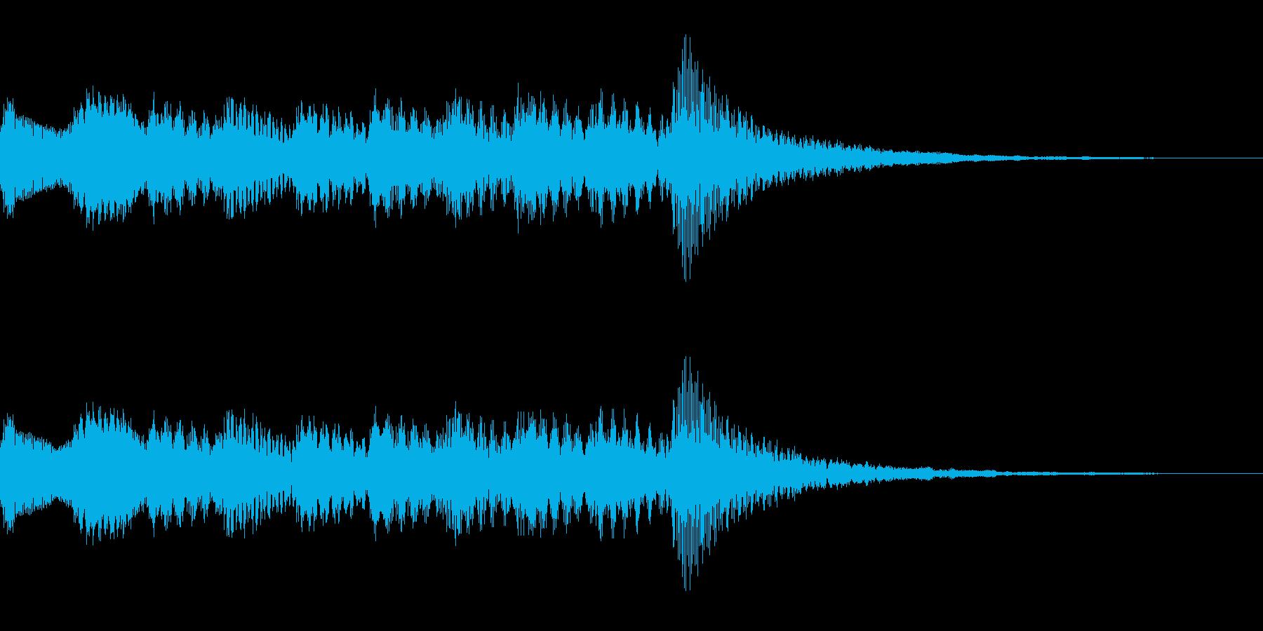 ソフトウェアの起動音の再生済みの波形