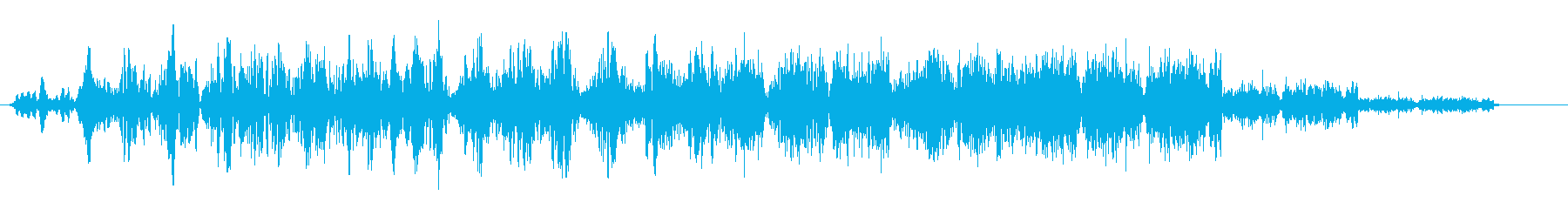シャララ系アップ(上がって行く)の再生済みの波形