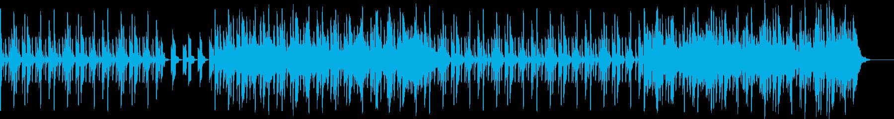 ドラマチックな展開のあるエレクトロ曲の再生済みの波形
