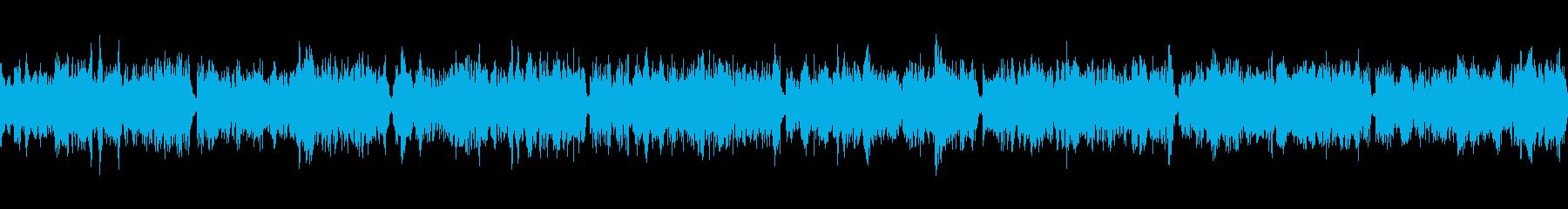 緊急事態のアラート音の再生済みの波形