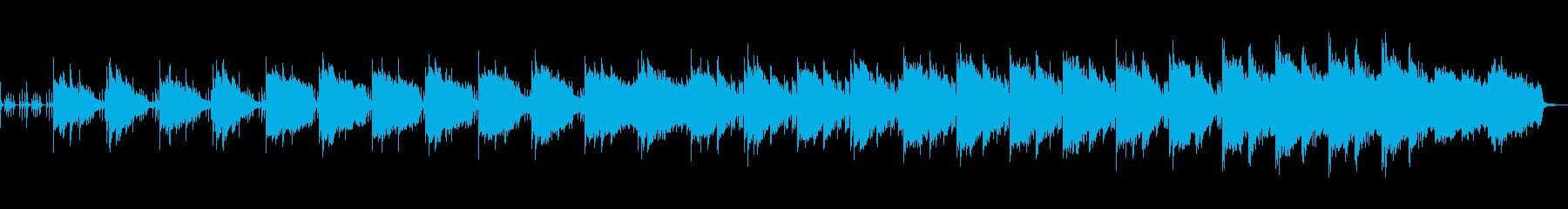 荘厳な静けさを感じる和風な楽曲の再生済みの波形