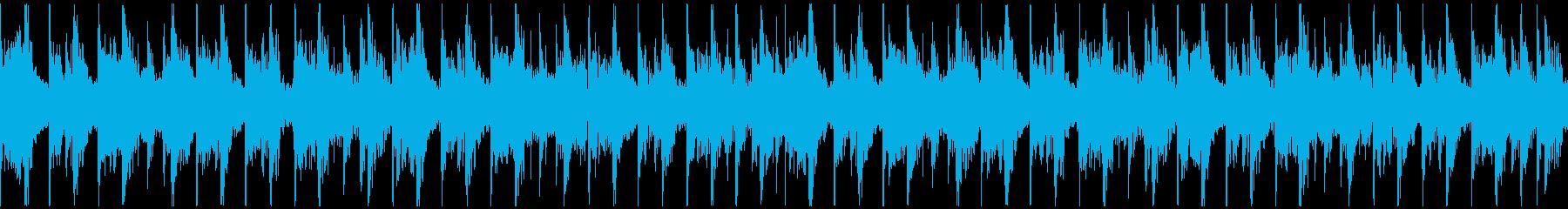 【ループ】明るい口笛&タムタムの再生済みの波形