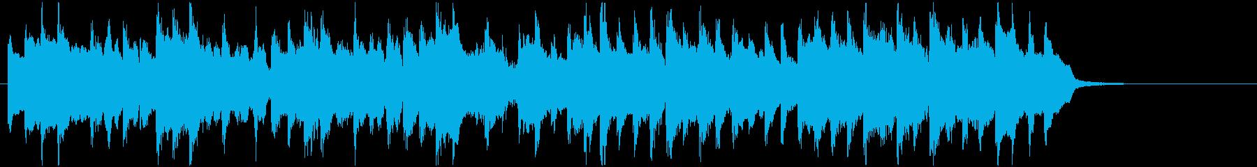 ほのぼのとした日常をイメージしたBGMの再生済みの波形