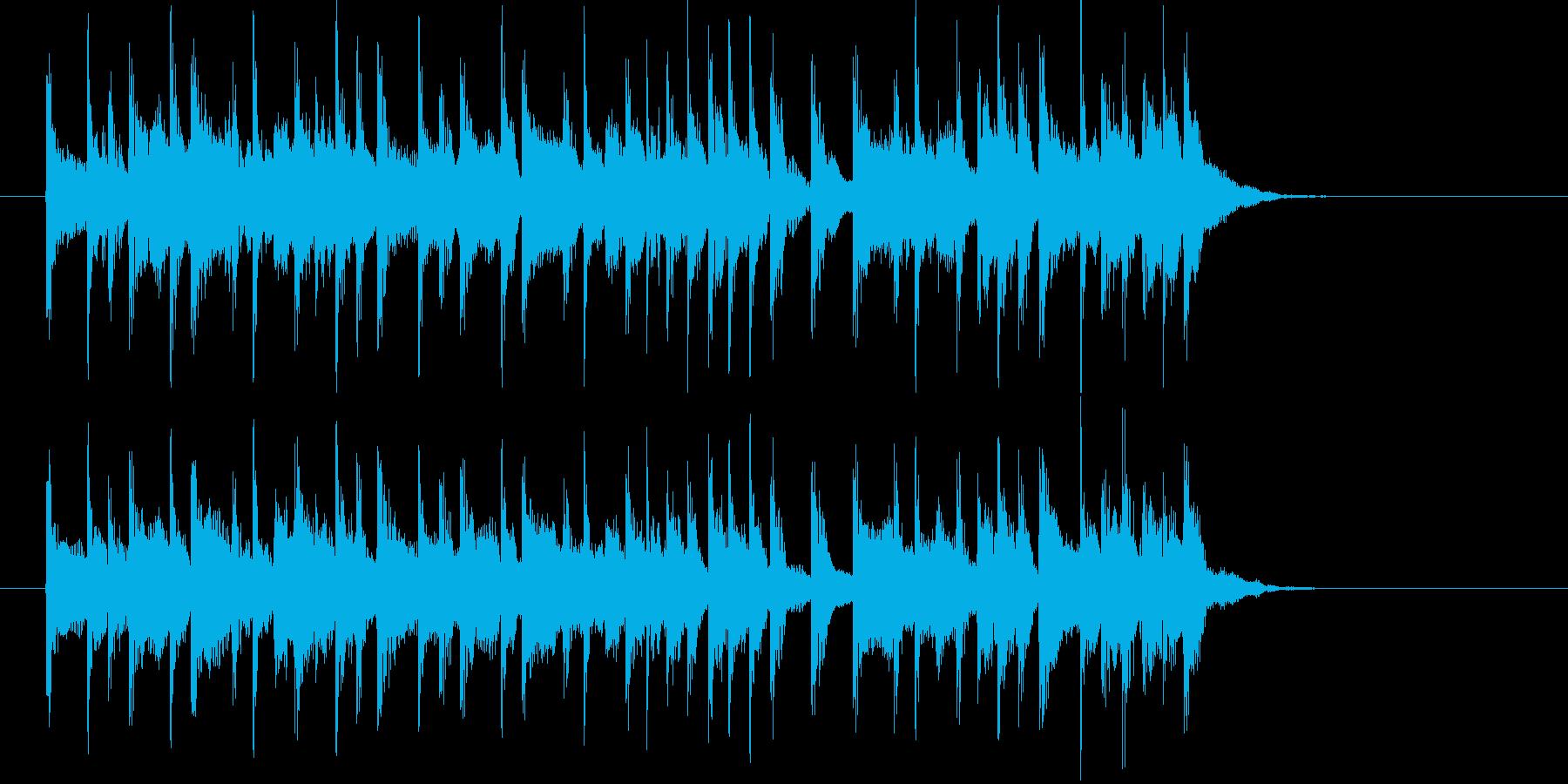 キラキラとした明るいサウンドの再生済みの波形