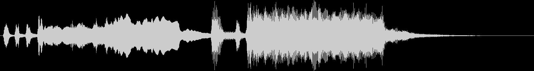 シンプル金管ファンファーレMの未再生の波形
