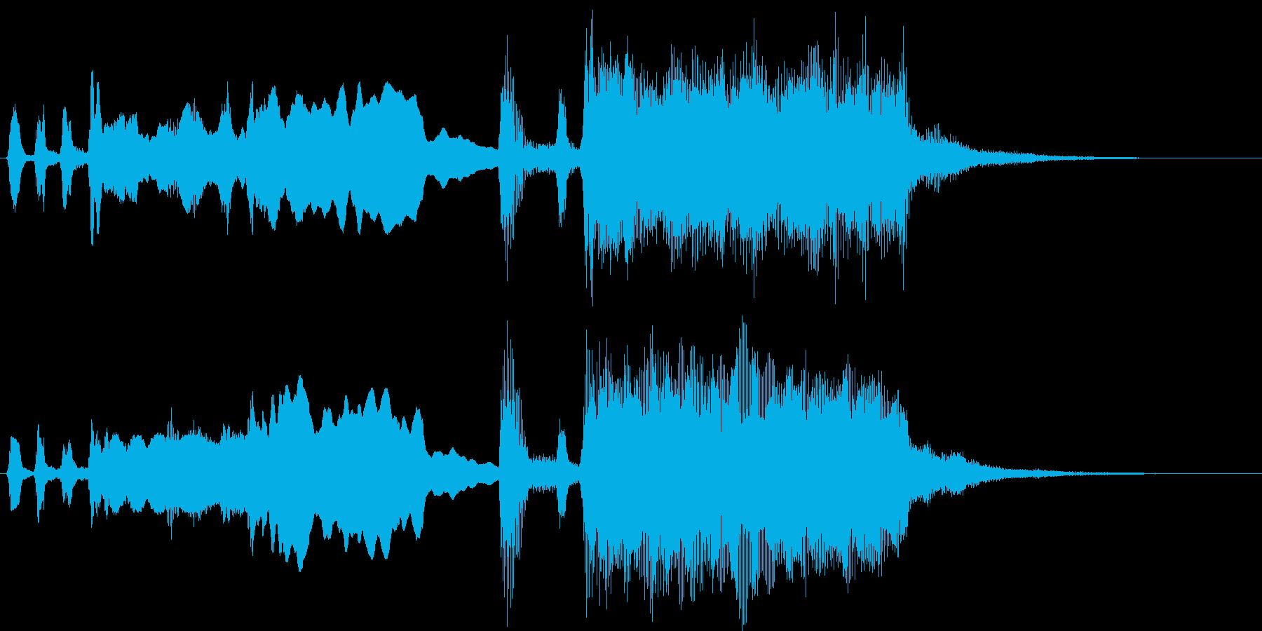 シンプル金管ファンファーレMの再生済みの波形