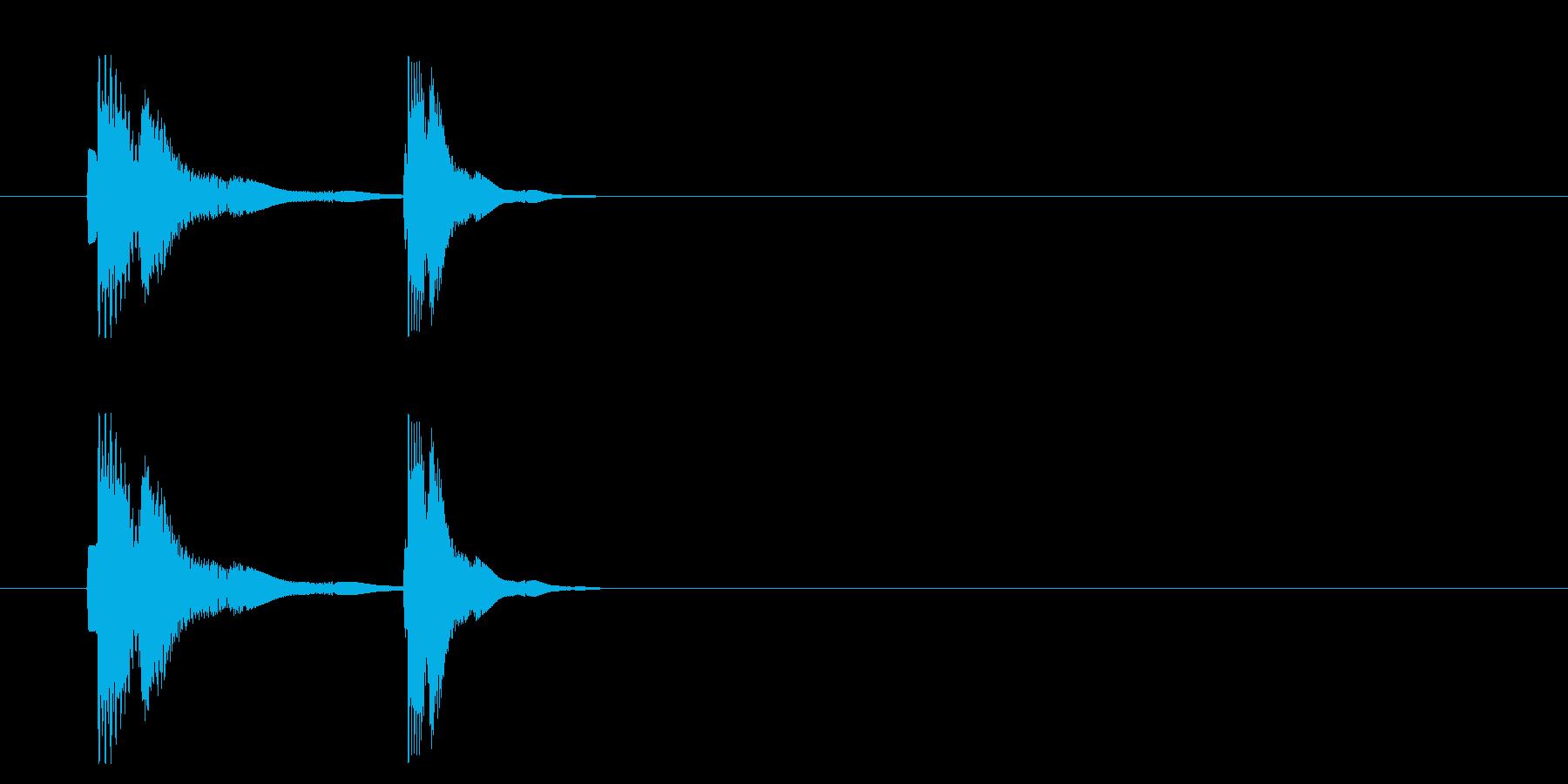 コミカル  アクション ボタン ピコの再生済みの波形