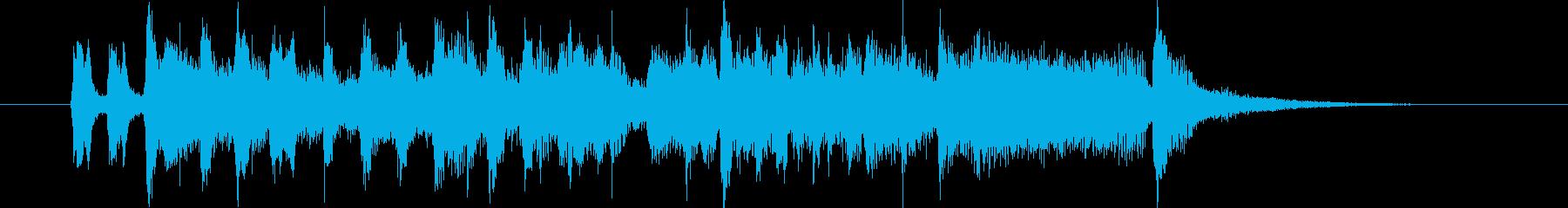 メルヘンチックで明るい軽快なポップスの再生済みの波形