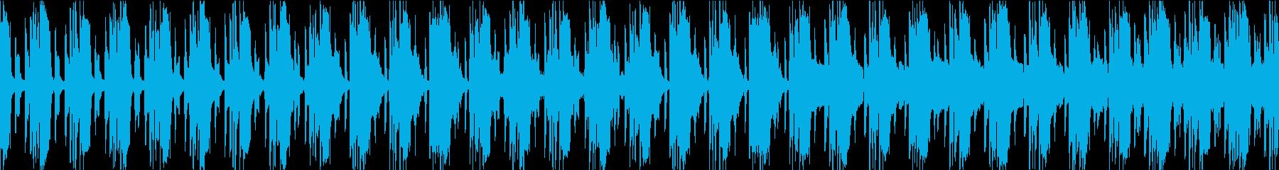 ずっしり響くピアノ&ギターの再生済みの波形