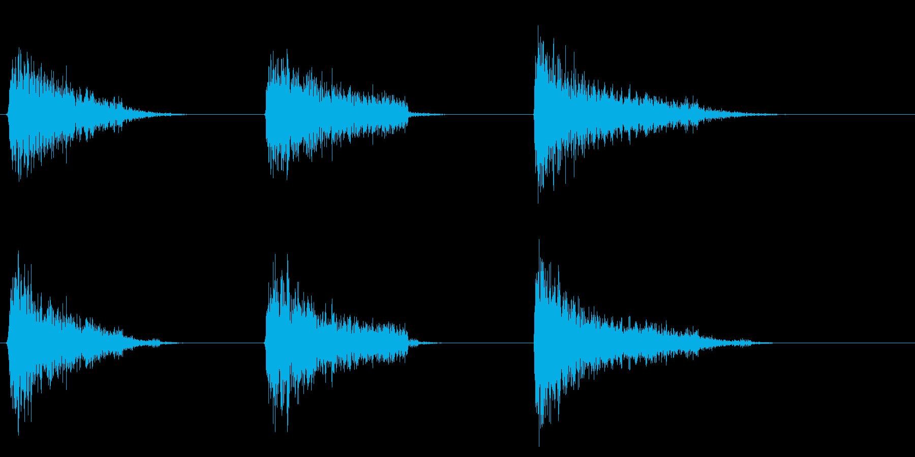 爆発ファイアバースト、カタパルト、...の再生済みの波形